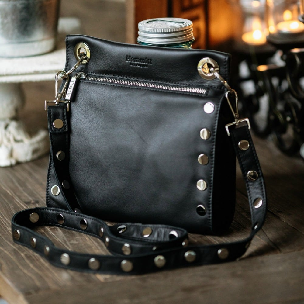 Paul Leather Crossbody with Silver Hardware by Hammitt (Black) at Shoetini 4a1c1cf56add7